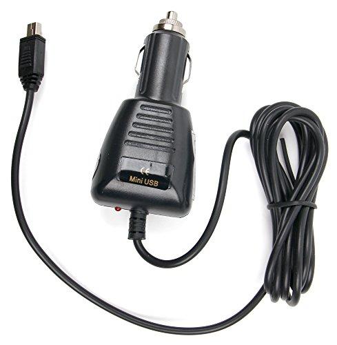 DURAGADGET Cargador Mini USB para GPS Bestbeans BB-CB-01 / CARRVAS GPS72568-DE/Junsun ES-JS-D100-PT1 / GPS LESHP 5' / OHREX 712 - con Conexión para El Encendedor De Su Vehículo
