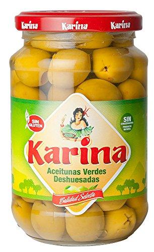 Karina Grüne Manzanilla-Oliven ohne Stein, Glas, 6er Pack (6 x 160 g)