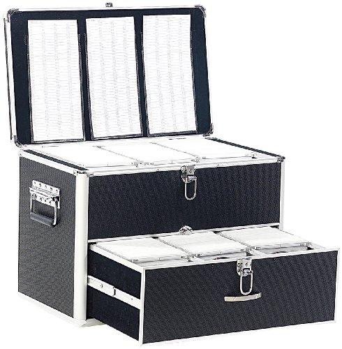 Xcase DVD Aufbewahrung Koffer: CD/DVD/BD-Koffer für 1000 CD/DVD/BDs (CD Aufbewahrung Koffer)