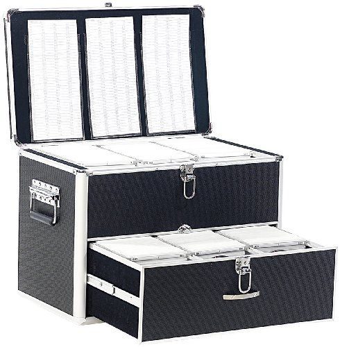 Xcase DVD Aufbewahrung Koffer: CD/DVD/BD-Koffer für 1000 CD/DVD/BDs (DVD Box)