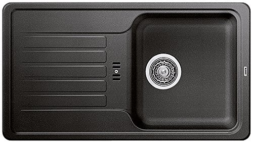 BLANCO Favos Mini, Küchenspüle aus Silgranit, Anthrazit-schwarz, reversibel / mit 3 1/2' Korbventil - ohne...