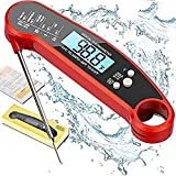 FANSIR Meat Thermometer, Instant Read Food Thermometer Digital Cooking Thermometer with Backlight LCD Screen, IP67 Waterproof Kitchen Thermometer with Long Probe for Meat, BBQ (Battery Included)