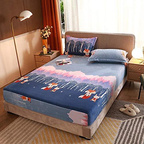 haiba Protector de colchón impermeable, ajustable, transpirable, a prueba de manchas, hipoalergénico y no ruidoso, fácil ajuste, tamaño king 48 x 74 cm x 2