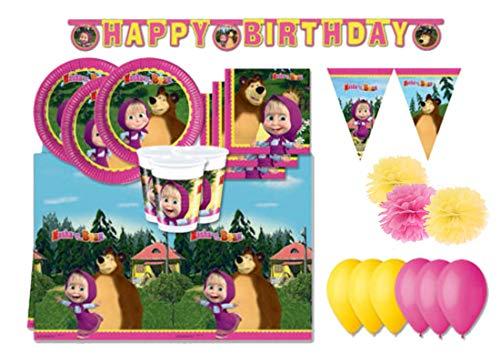 pro cos Coordinato Tavola Compleanno Masha e Orso Kit 46f