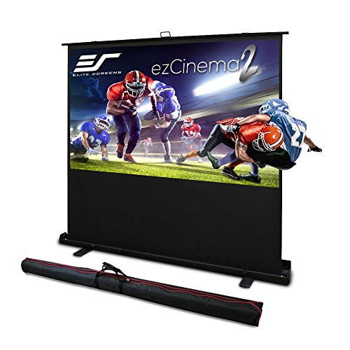 Elite Screens ezCinema 2, Manual Floor Pull Up with Scissor Backed Projector Screen, 84-inch 16:9, Portable Home Theater Office Classroom...