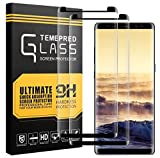 XUZOU sd098 Samsung Galaxy Note 8 Screen Protector, Full Coverage HD Clear Film Tempered Glass Screen Protector(2 Pack)