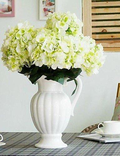 """Aufrechtzuerhalten,Künstliche Blumen, 16.9 \""""sechs Köpfe aritificial Seide Hortensien-Set 1 (weitere Farben) , light pink"""