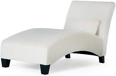 Amazon.com: Baxton Studio Amelia Linen Victorian Chaise ...