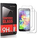 Bear Village® Displayschutzfolie für Galaxy S5, Blasenfrei, Anti Fingerabdruck, HD Ultra klar Schutzfolie aus Gehärtetem Glas für Samsung Galaxy S5, 3 Stück -