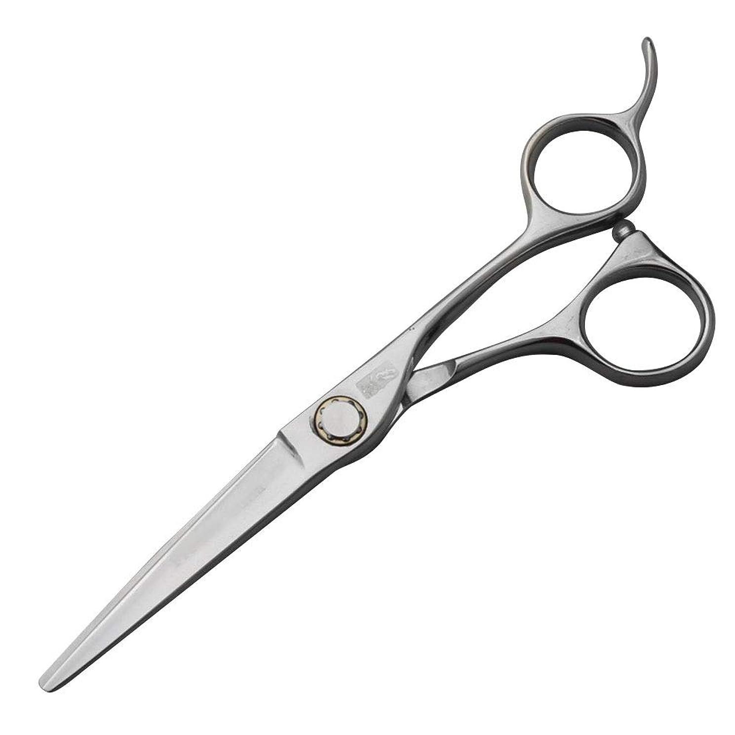 上院議員場所トースト440C高級ステンレス鋼理髪はさみ、スタイリスト特別な平らなはさみ+歯はさみセット モデリングツール (色 : Silver)