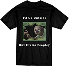 VOTANTA I'd Go Outside But It's So Peopley Funny Camping T-Shirt