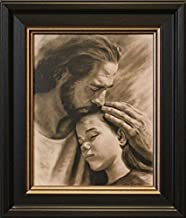 Artaccents Framed Picture of Jesus holding young girl,My Child by David Bowman