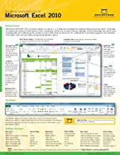Microsoft Excel 2010 Quick Start Reference Card, 6-page Tri-fold Tips & Tricks Shortcut Training & H