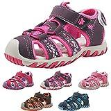 Sandali Sportivi per Bambini e Ragazzi Ragazze Cuoio Morbida Estivi Pelle Escursionismo Scarpe da Spiaggia Sandali a Punta Chiusa