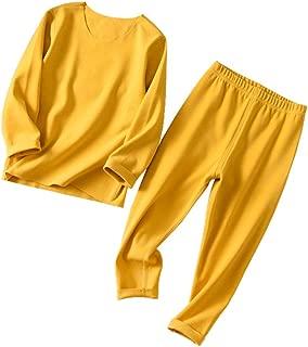 Unisex Baby Seamless Thermal Underwear Set Kids Base Layer Long John Pajamas Set