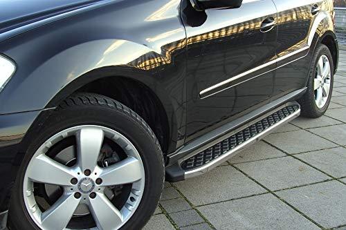 Trittbretter passend für Mercedes Benz GLK ab Baujahr 2008-2015 Model in Hitit Chrom mit TÜV und ABE