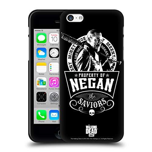 Oficial AMC The Walking Dead Salvadores Negan Biker Art - Arte para Bicicleta Funda de Gel Negro Compatible con Apple iPhone 5 / iPhone 5s / iPhone SE 2016