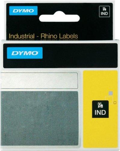 9mm, Gelb für Dymo RHINO 5200, ID1 Heissschrumpfschlauch, Schwarz auf Gelb, Schriftband-Kassette, Beschriftungsband, 9 mm breit, RHINO5200, 1, 5mtr.