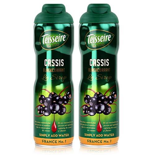 Teisseire Getränke-Sirup Cassis/Schwarze Johannisbeer 600ml - Sirup der genauso schmeckt wie die Frucht (2er Pack)