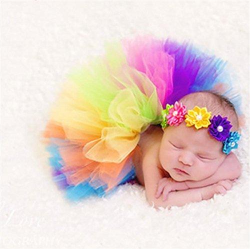 PEPEL Bébé Photographie Prop Infantile Costume Belle Tutu Dress Fleur Bandeau Set