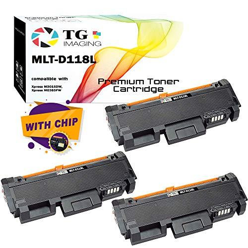 TG Imaging Compatible for Toner Cartridge D118L MLT-D118L (3 Pack Value Set) D118S for Xpress M3015DW Xpress 3065 Printer