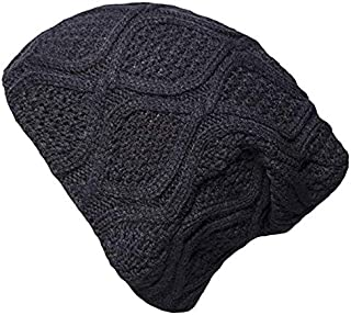 YSense Winter Mens Cable Knit Beanie Hats, Warm Slouchy Thick Skull Cap