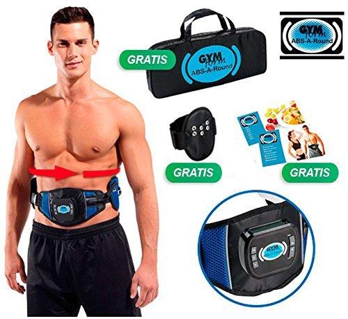 Abs-A-Round Bauchmuskel-Gürtel zur Elektrostimulierung der Muskulatur, 360Grad, 99Intensitätsstufen, 6Programme und 594Unterprogramme, 3unabhängige Kanäle, 6Elektroden - zur Beseitigung des überflüssigen Fetts, Kräftigung und Straffung der oberen, unteren, schrägen Bauchmuskeln Ein elektrostimulierender Gürtel zur Stärkung der gesamten Muskulatur.
