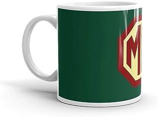 Classic Cars ロゴ - MG11オンス クラシックコーヒーマグ Cハンドル セラミック構造 光沢セラミックマグカップ 11オンス コーヒー愛好家へのギフト
