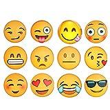 Set de 12imanes para nevera o pizarra blanca con diseños 3D de emoticonos, divertidos, ideales para la oficina