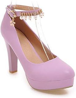 BalaMasa Womens APL12250 Pu Platform Heels