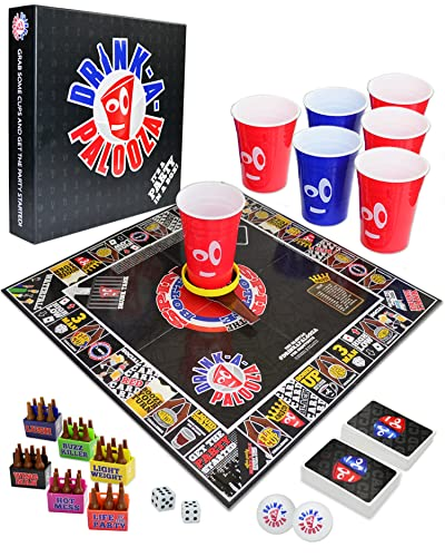 DRINK-A-PALOOZA Board Games: Party Drinking Games for Adults -...