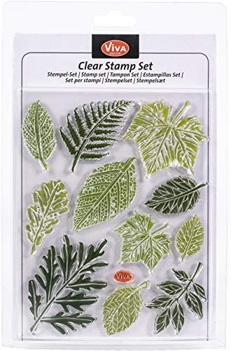 Viva Decor®️ Clear-Stamps (Blätter) Silikon Stempel - Prägung Stempel - DIY Dekoration stanzen - Stempel Silikon - DIY Stamp - Stempel Prägung - Made in Germany