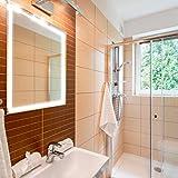 APLIKE BATHROOM LIGHTING Espejo de baño Rectangular 80x70cm con Perfil LED de Esquinas Redondas de 30w con función antivaho. Luz Blanca y Potente (5700 K) de eficiencia energética A+.