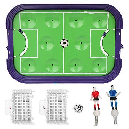 ZXYSHOP Tabelle Mini Tischfußball Fußball Finger Wettbewerb Kinder Fußball Spiel Spielzeug Mit Mobilen Torwart, Fußball Finger-to-Action Auswurf Brettspiel Spielzeug Tischplatte Set Spiel