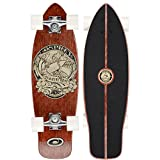 Osprey in Skate We Trust Single Kick Skateboard Mini Cruiser Noir/Marron
