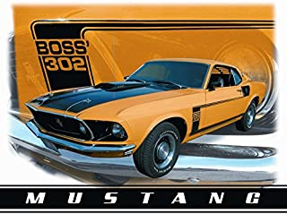 Gatsbe Exchange Ford Mustang Boss 302 Classic Old Fashioned Vintage Advertising Metal Tin Sign 8x10 Made in The USA by Mostly Art Struff