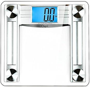 Ozeri ProMax 560 lbs / 255 kg Bath Scale with 0.1 lbs / 0.05 kg Sensor Technology and Body Tape Measure & Fat Caliper Silver