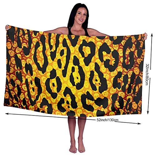 TRFashion Badetuch Badehandtücher Leopard Animal Print On Pinterest Skulls Microfiber Large Soft Pool Outdoor Towel- Quick Fast Dry 31 x 51 Zoll