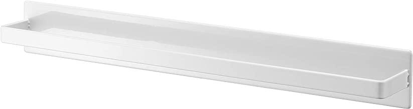 山崎実業(Yamazaki) マグネットバスルームタオルハンガー ワイド ホワイト 約W40XD4.5XH5cm タワー タオル ハンガー 掛け 4596