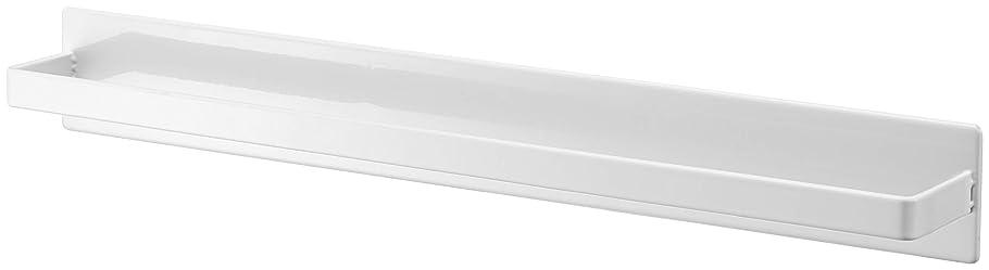 一時的凍るネブ山崎実業(Yamazaki) マグネットバスルームタオルハンガー ワイド ホワイト 約W40XD4.5XH5cm タワー タオル ハンガー 掛け 4596