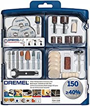 Dremel SC724 Kit de 150 Accesorios Variados - Juego de Accesorios para Herramienta Rotativa para Tallar, Fresar, Amolar, Limpiar, Pulir, Cortar, Lijar y Grabar