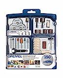 Dremel SC724 EZ SpeedClic Kit - Coffret de 150 Accessoires pour Outils Multifonction Rotatifs pour Découper, Poncer, Graver, Meuler, Nettoyer, Sculpter et Polir