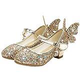 YOSICIL Zapatos de Princesa de Bowknot para Niños Zapatos Bailarinas Sandalias...