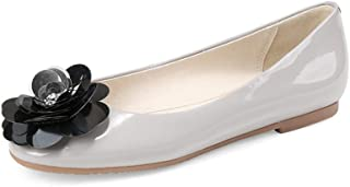 Nine Seven Women's Leather RoundToe Ballet Flats