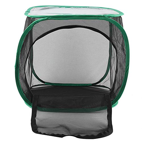 Netz Zucht Käfig, Gittergewebe Material Lang Zeit Verwenden 30 * 30 * 30 cm Holz Zucht Kasten mit Polyester Garn Netz