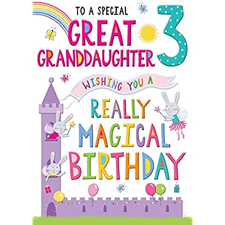For A Special Granddaughter You Are 3 Today Badge Card Birthday Card