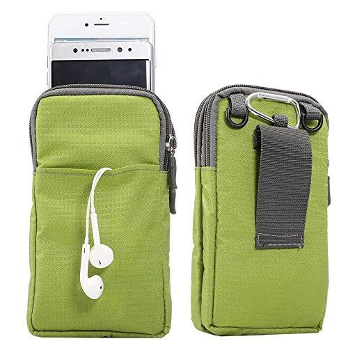 jbTec Handytasche zum Umhängen 165x90x30mm Nylon klein - Gürteltasche Handy Umhängetasche Gürtel Tasche Hüfttasche Case, Farbe:Grün