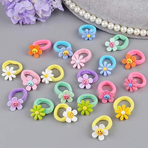Gouen 10 stks mooie bloem prinses hoofddeksels baby hoofdtooi meisjes haaraccessoires kids elastische haarbanden kinderen haar touwen, mix bloem
