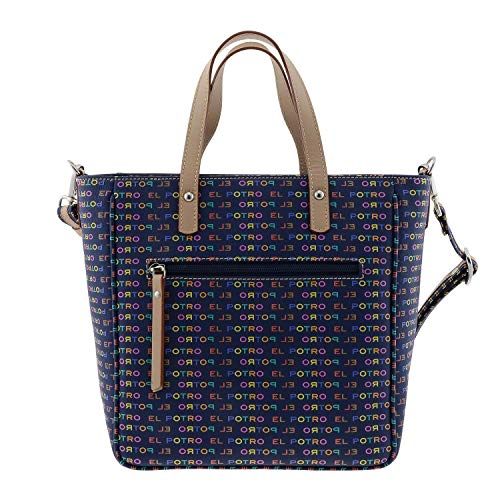 El Potro 1124 Multicolor Bolso de Mano para Mujer Talla: U Color: MARINO