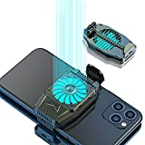 Oluote Cell Phone Cooler, Mobile Phone Radiator for Playing Games Watching Videos with LED Light, Cooler Controller Compatible for Universal iPhone/Android Smartphone (Shade)